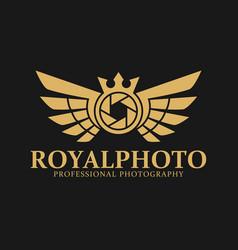 Royal photo - luxurious photography logo vector