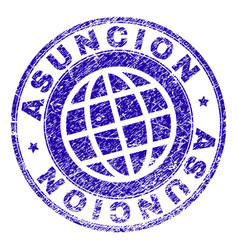 Scratched textured asuncion stamp seal vector