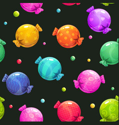 seamless pattern with cartoon colorful round vector image