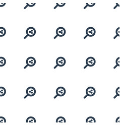 search share icon pattern seamless white vector image