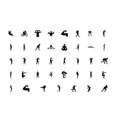 Silhouette people man sport concept black color vector