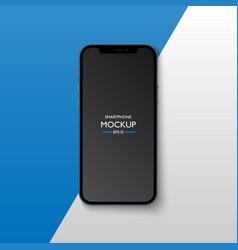 Smartphone application screen mockup vector