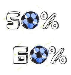 Soccer discount vector
