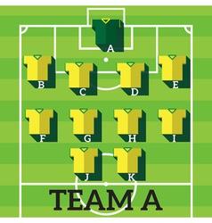 soccer team chart vector image