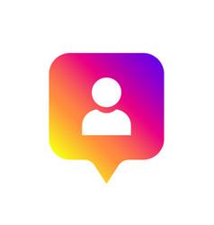 social media notification icon symbol follower vector image