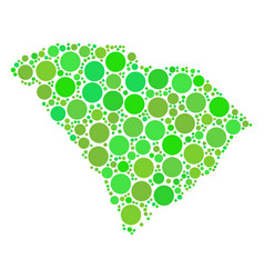 South carolina state map composition of dots vector