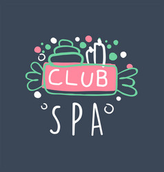 Spa club logo design emblem for wellness yoga vector