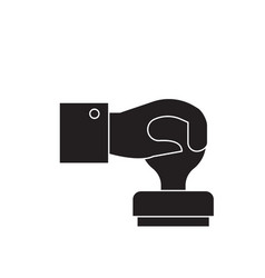 Stamping black concept icon stamping flat vector