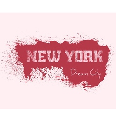 T shirt typography graphics New York girl vector image