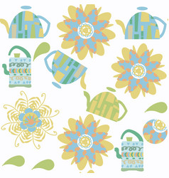 tea seamless pattern it is located in swatch menu vector image