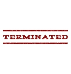 Terminated Watermark Stamp vector