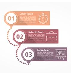 Three Steps Diagram vector image