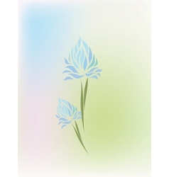 Vintage hand drawing iris vector image