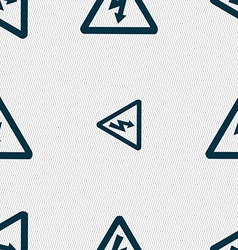 voltage icon sign Seamless pattern with geometric vector image