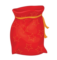 xmas red bag vector image