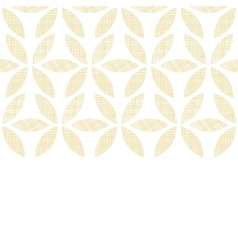 Abstract textile beige leaves horizontal seamless vector image vector image