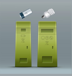Battery lamp recycling vector