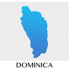 dominica map in north america continent design vector image vector image