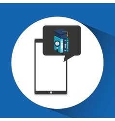 Education online smartphone app search library vector