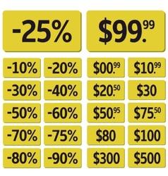 Price icon set vector image