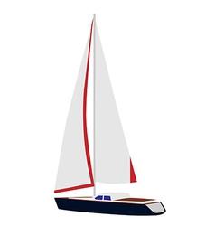 Sailing yacht vector image vector image