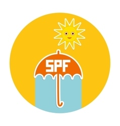 Summer vacation beach Umbrella bright sun vector image