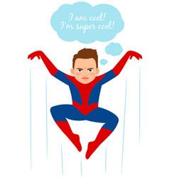 superhero spider boy vector image