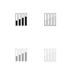 diagram growth black and grey set icon vector image