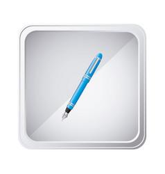 emblem blue ballpoint icon vector image