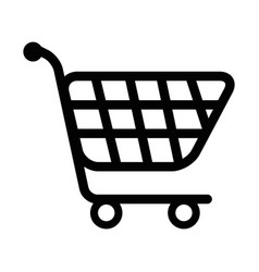 isolated supermarket cart vector image
