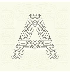 Letter A Golden Monogram Design element vector image