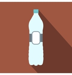 Plastic bottle flat icon vector image vector image