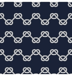 Seamless nautical rope pattern vector image vector image