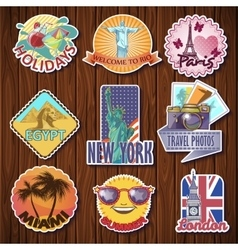 Travel Stickers Set vector image vector image
