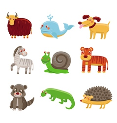 Cute cartoon animals vector image vector image