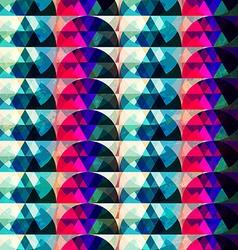 retro circle seamleess texture vector image vector image