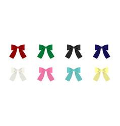 set of clip art bows vector image vector image