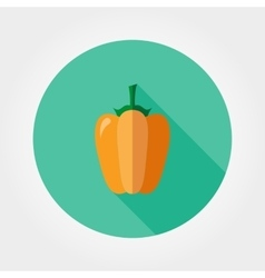 Yellow bell pepper icon vector