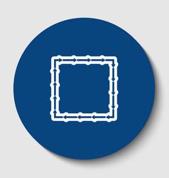 arrow on a square shape white contour vector image