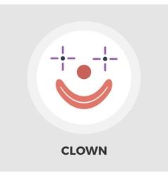 Clown flat icon vector image