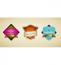 labels with ribbon vector image vector image