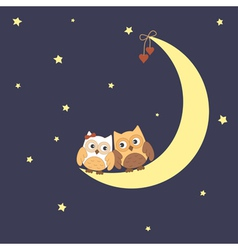 Over the moon vector image vector image