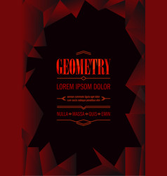abstract geometric polygonal advertising poster vector image