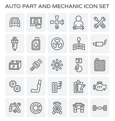 Auto mechanic icon vector