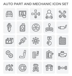 auto mechanic icon vector image