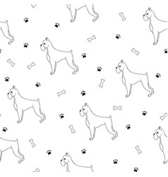 awesome seamless pattern with cartoon cute vector image