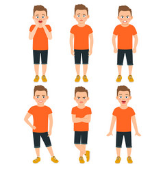 Boys different emotions vector