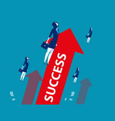 Businesswoman successful workers concept business vector