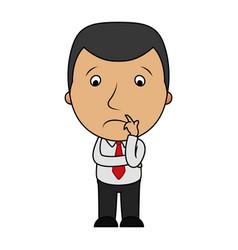 Cartoon sad businessman vector