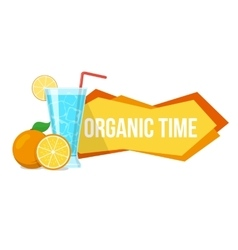 Cocktail and oranges with text vector
